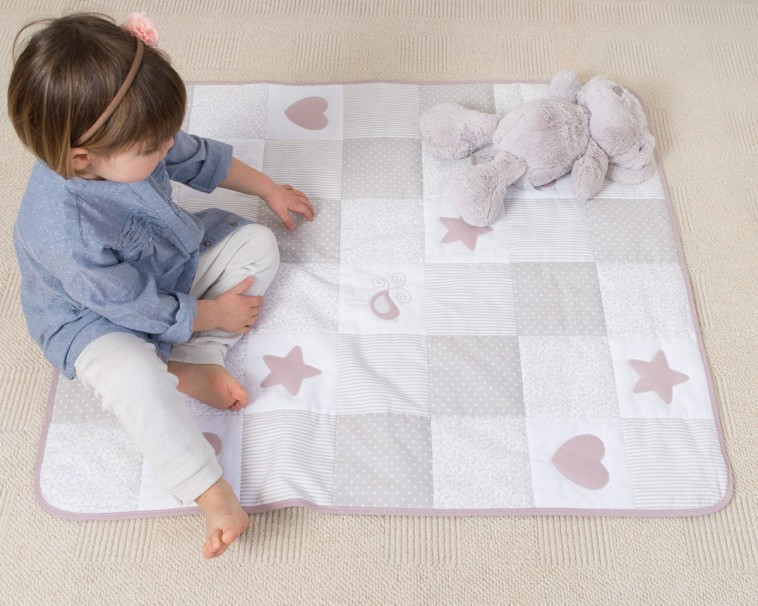 Trapunta Patchwork - Baby World Rosa